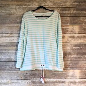 Vineyard Vines XL terry striped beach cover up